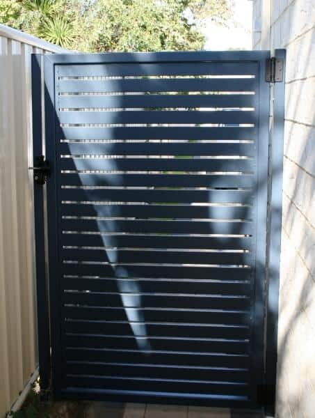 Aluminium Deep Ocean Slat Gate In Palmyra, Rear View