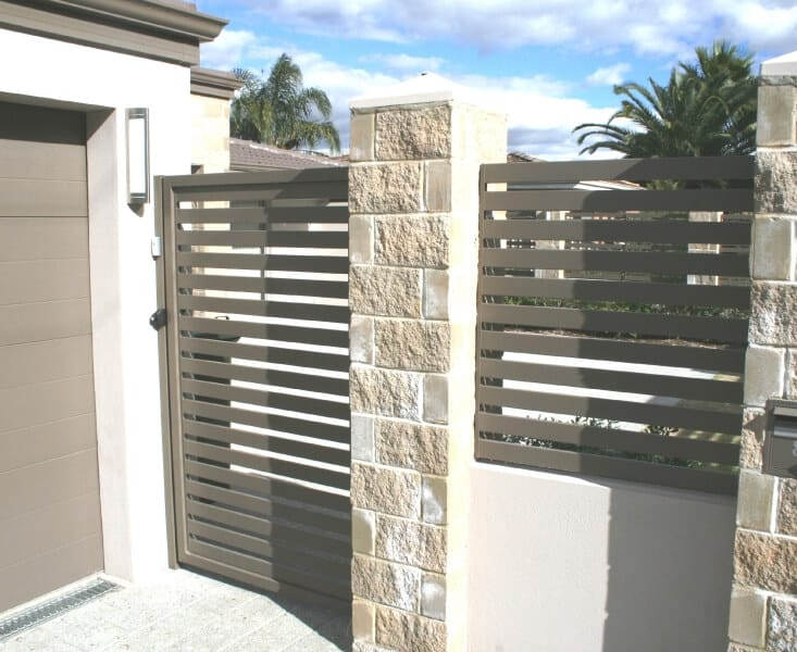 Aluminium Slat Fencing And Gate With Locking D Latch Wilson