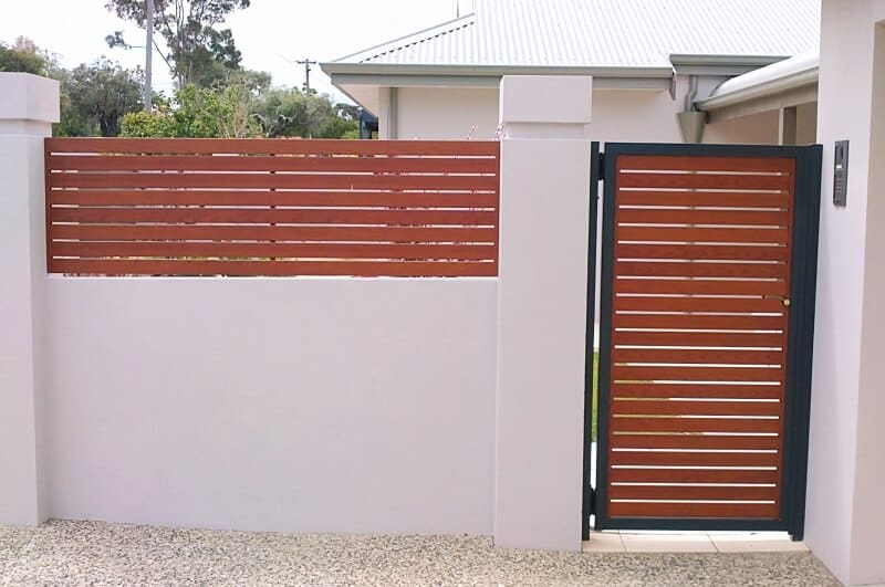 Aluminium Western Red Cedar Timber Grain Gate Melville