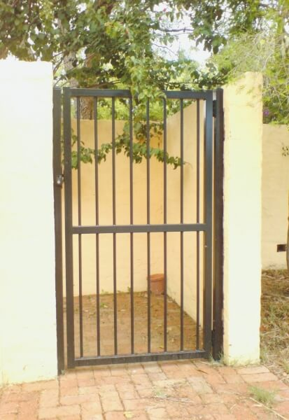 Basic Flat Top Style Tubular Steel Security Gate With 19mm Bars In Nedlands