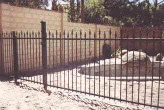 Cardinal Style Tubular Steel Pool Fence In Mount Pleasant