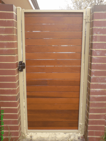 Cedar Timber Slat Gate In East Vic Park