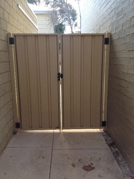 Colourbond Gates, Rear View, Fremantle