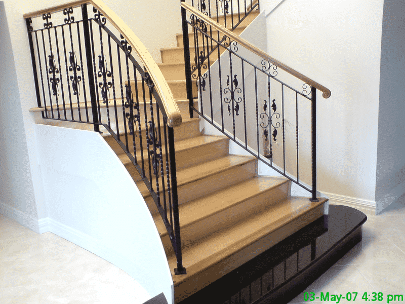 Completed Wrought Iron Stairwell Balustrade In Canning Vale