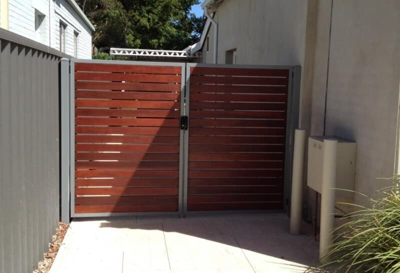 Dressed Jarrah Gates With Clear Stain Nedlands