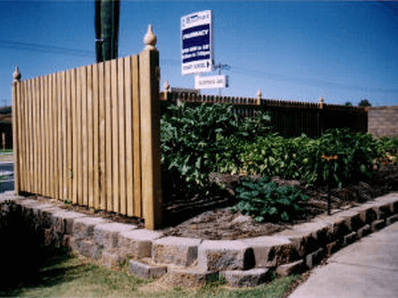 Dressed Pine Picket Fence In Willetton