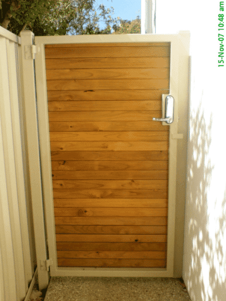 Dressed Pine Timber Slat Gate Nedlands 2