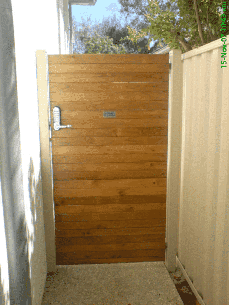 Dressed Pine Timber Slat Gate Nedlands