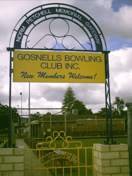 Engraved Steel Sign For Gosnells Bowling Club