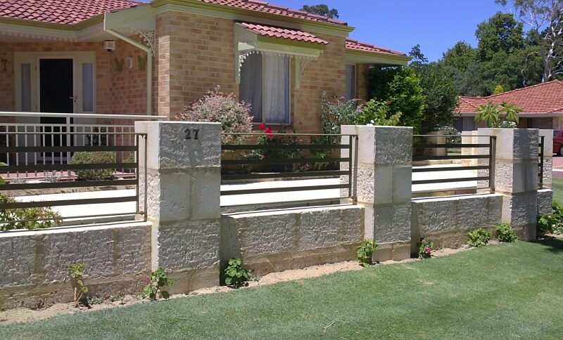 Flat Bar Wrought Iron Railing Fence Forrestfield