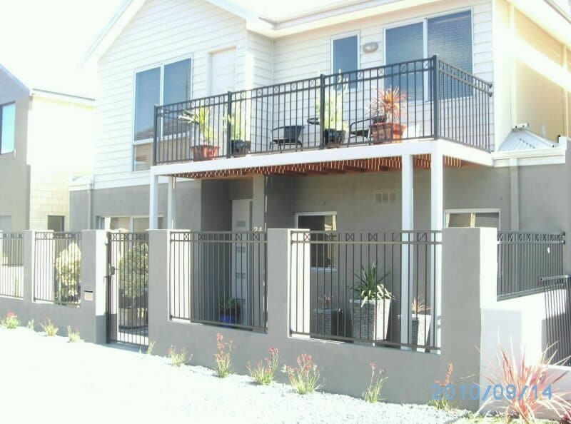 Front Fence And Gate In Tubular Steel To Match Balcony In East Vic Park