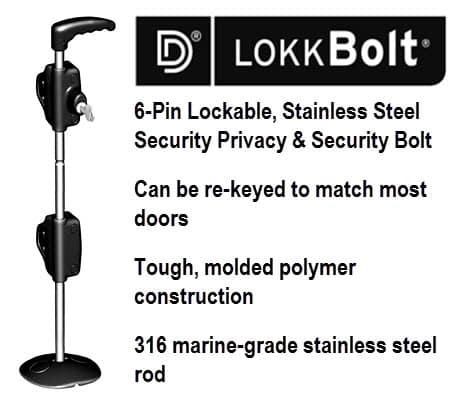 Key Locking Drop Bolt