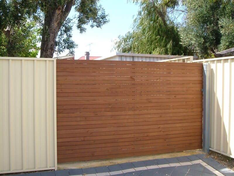 Manually Sliding Pine Timber Gate In Fremantle
