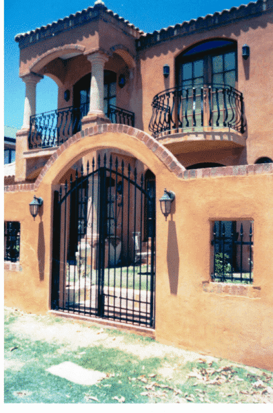 Mediterranean Balcony And Tubular Steel Gates And Panels In Ardoss