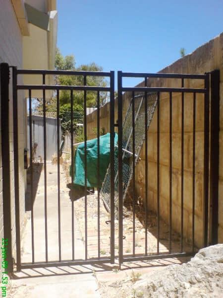 Pair Of Tubular Steel Gates Floreat