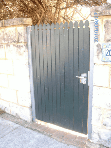Pine Timber Colonial Style Gate With Locinox Latch In Fremantle