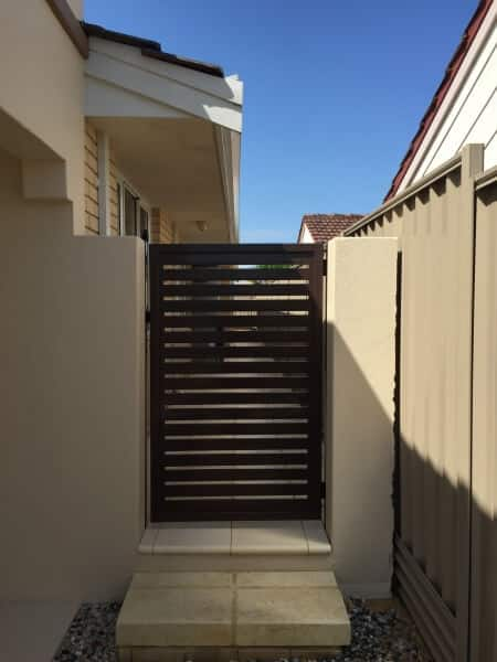 Powdercoated Ali Slat Gate Kardinya