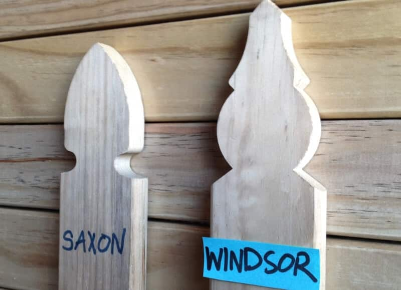 Saxon And Windsor Pine Picket Profiles