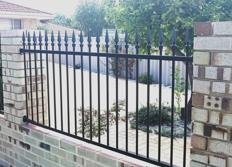 Sentinnel Style Tubular Steel, Punched Railing.