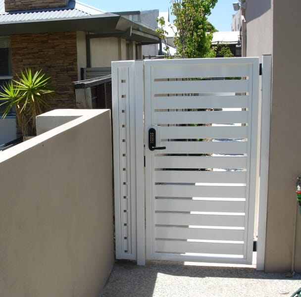 Slat Gate With Borg Lock