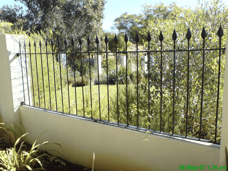 Tear Drop Wrought Iron Spear Panels In Mount Lawley