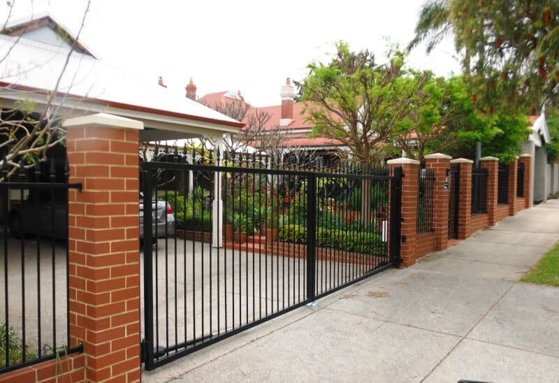 Tube Steel Automated Gates On Angled Driveway, Mount Lawley