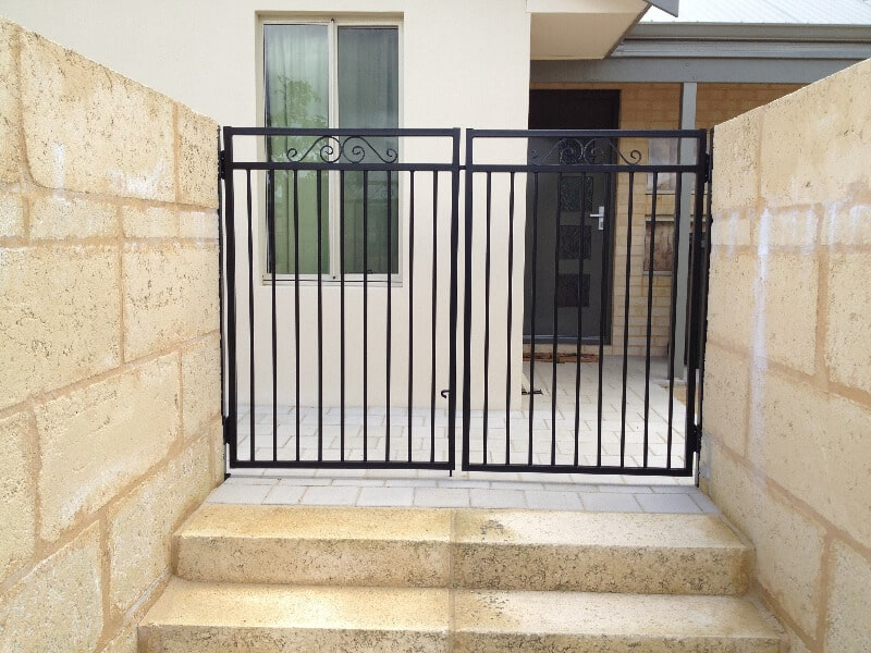 Tube Steel Gates With Scroll Work, Canning Vale