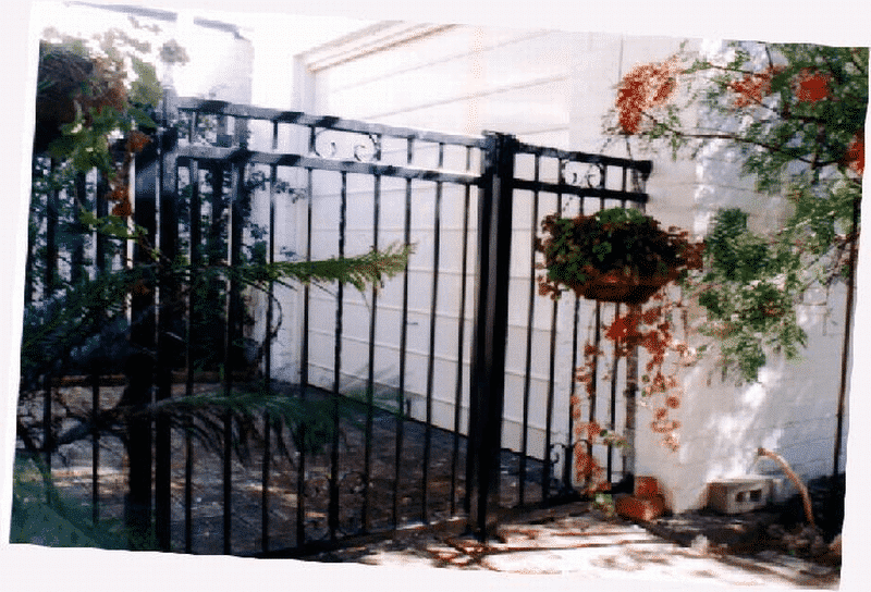 Tubular Steel And Wrought Iron Gate In South Perth