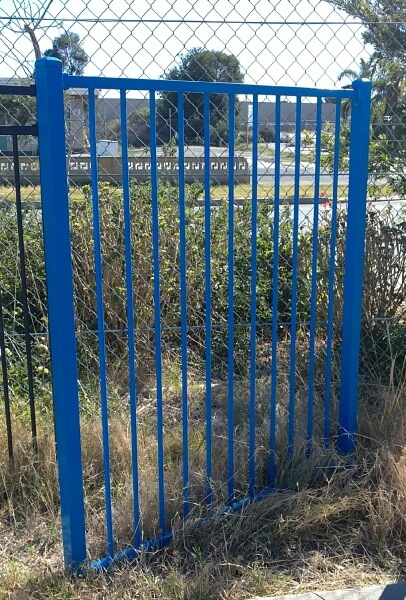 Tubular Steel Basic Flat Top Fence And Gate Style Using 16mm Bars At Auswest Beckenham Workshop
