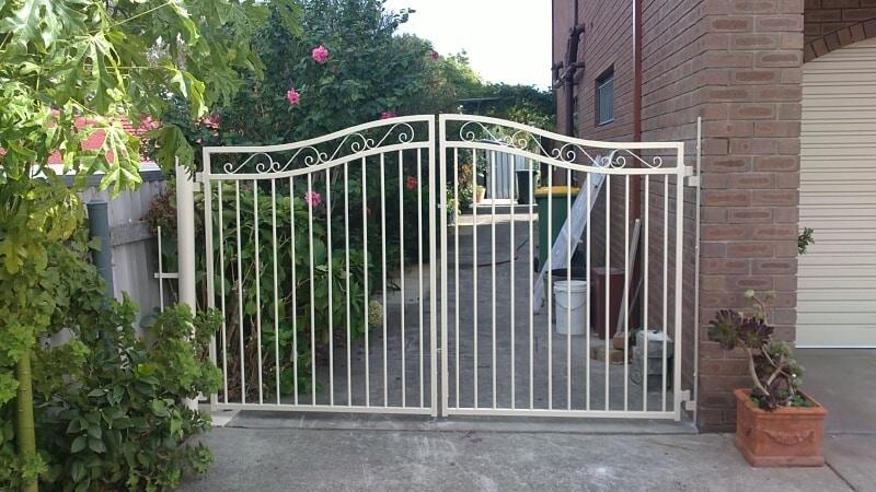 Tubular Steel Driveway Gates With Scrolls In Wilson
