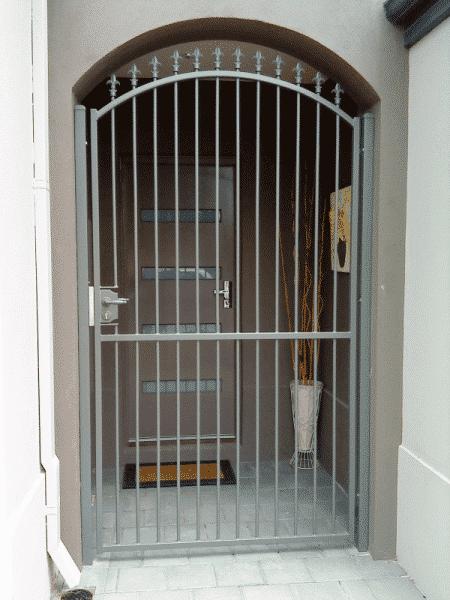 Tubular Steel Entry Security Gate In Canning Vale. Fleur De Lis Design