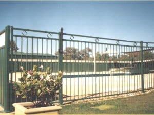 Tubular Steel Fence Diamond Design East Fremantle