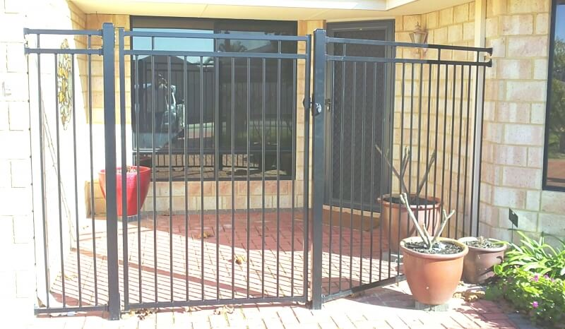 Tubular Steel Gate Canning Vale. Basic Design. Front Door Enclosure.
