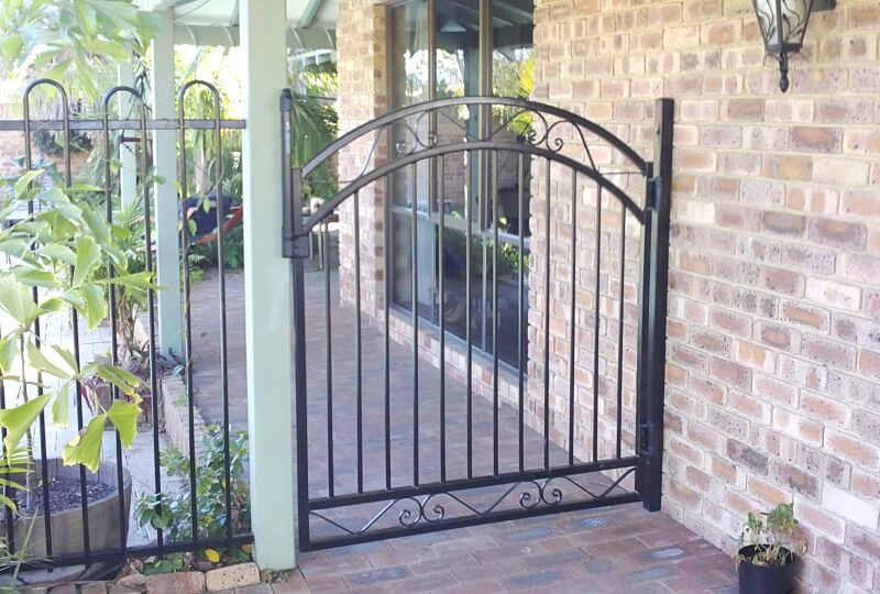 Tubular Steel Pool Gate With Sprung Hinges And Magna Latch In Churchlands