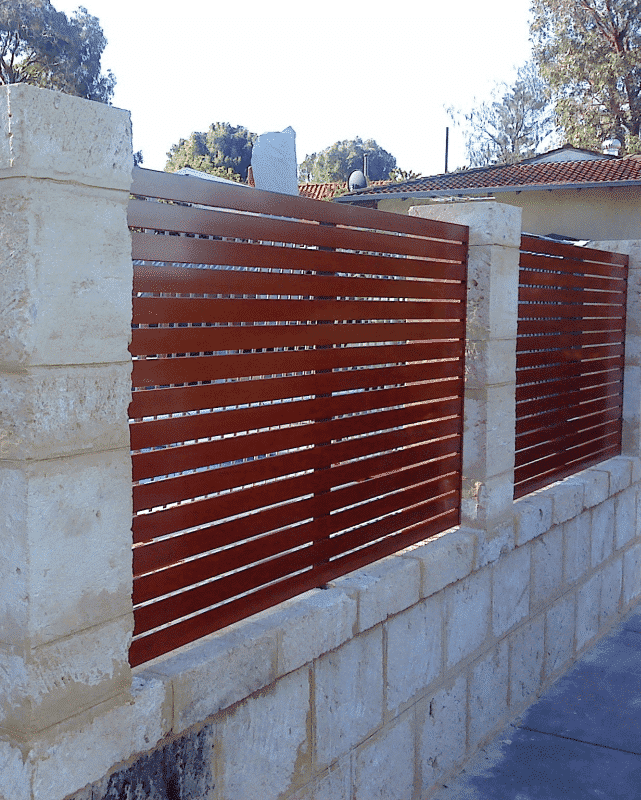 Western Red Cedar Aluminium Slat Fencing Wembley Downs