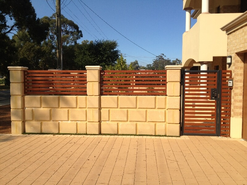 Western Red Cedar Fence And Gates Forrestfield. Gate With Borg Lock