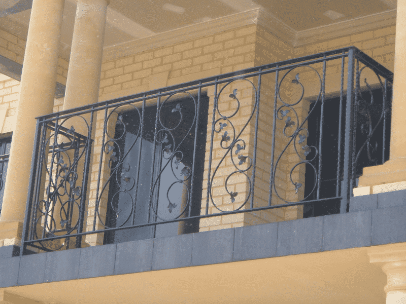 Wrought Iron Balustrade In Salter Point