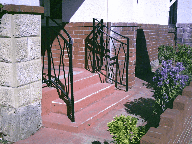 Wrought Iron Balustrade Made To Match Leadlight Windows And Front Gate In Kensington