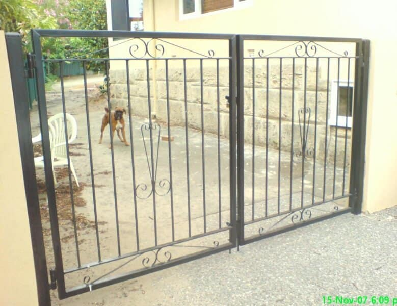 Wrought Iron Driveway Gates In Shelley