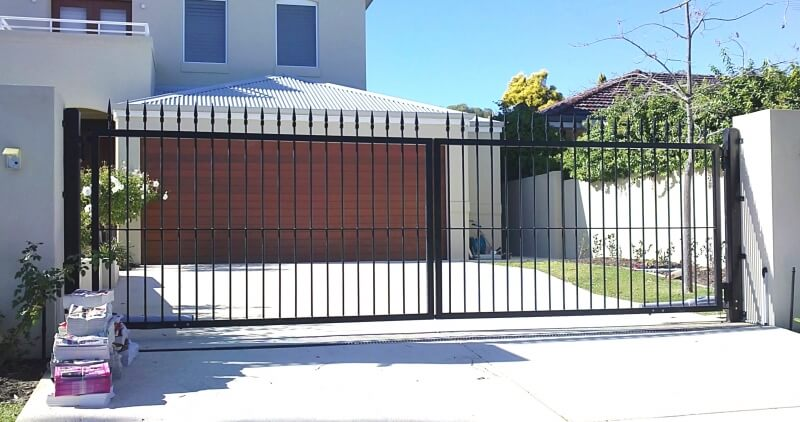 Wrought Iron Driveway Gates To Match Spear Panels 015