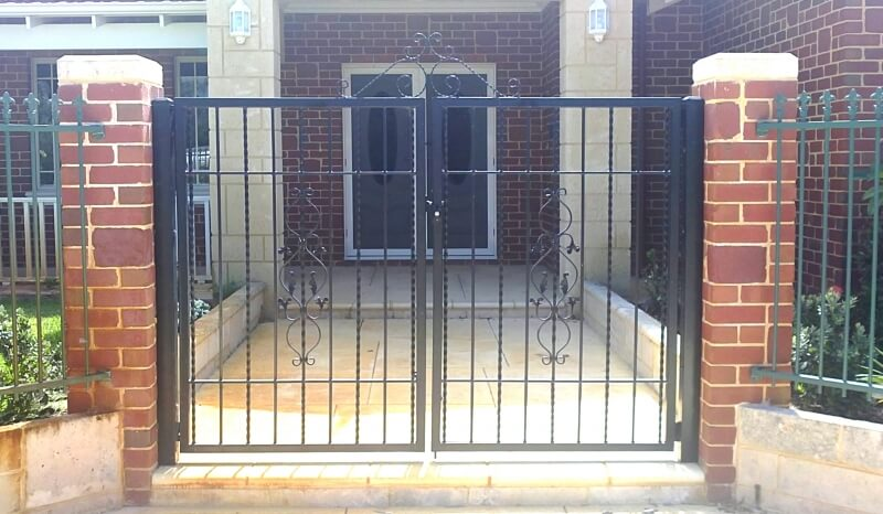 Wrought Iron Entrance Gates In Maddington