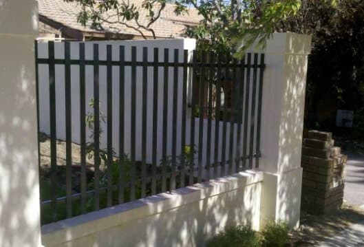 Wrought Iron Flat Bar Picket Fence Panels Shenton Park