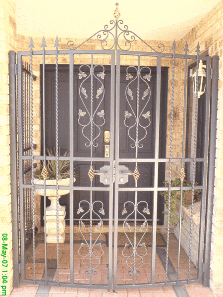 Wrought Iron Front Door Security Enclosure In Maylands