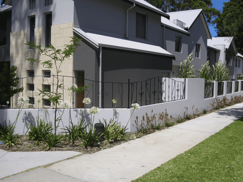 Wrought Iron Front Fence In Nedlands