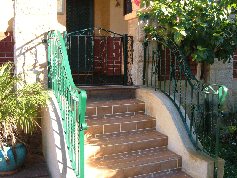 Wrought Iron Gate And Curved Panels In East Fremantle