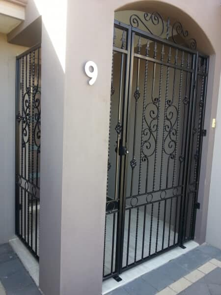 Wrought Iron Gate Assembled By Client Using Auswest Components