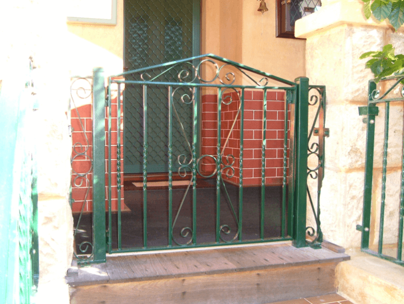 Wrought Iron Gate With Scrollwork In East Fremantle