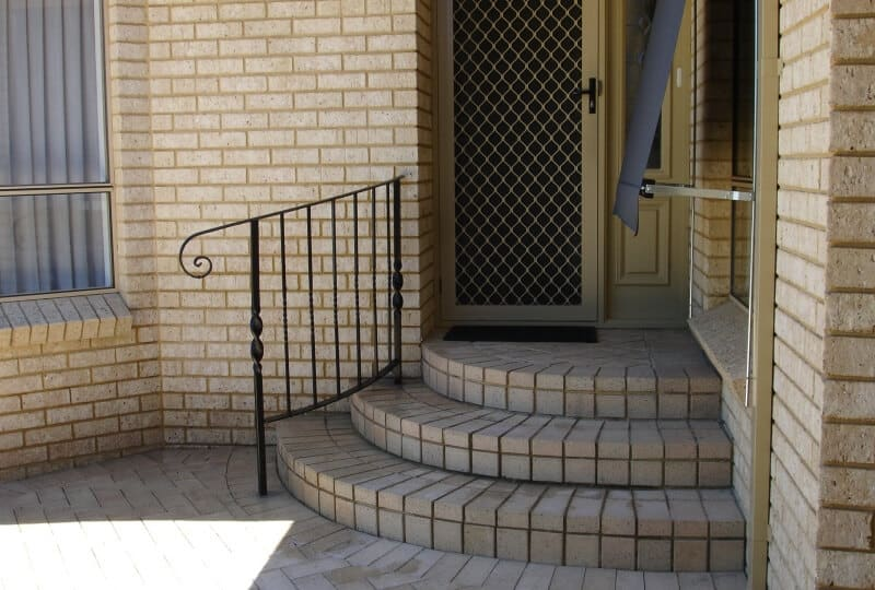 Wrought Iron Handrail With Monkey Tail