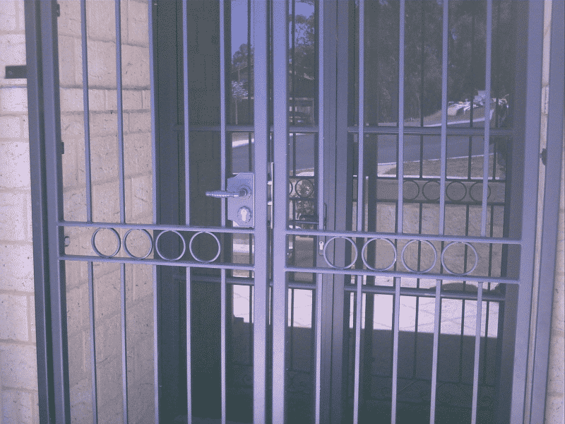 Wrought Iron Security Door Enclosure In Churchlands