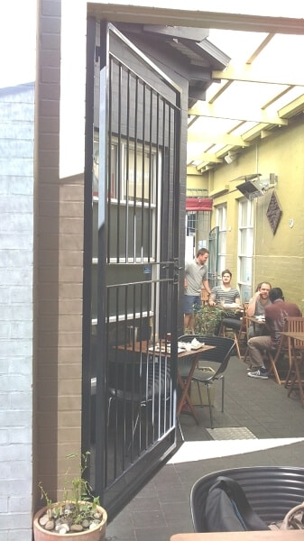 Wrought Iron Security Gate, Leederville Cafe2